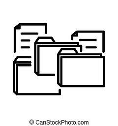 unstructured, data, ontwerp, illustratie