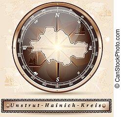 unstrut-hainich-kreis, karta