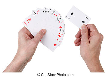 Unsuccessful deal in a card game concept