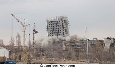 Unfortunate demolition of the unfinished house. big Bang