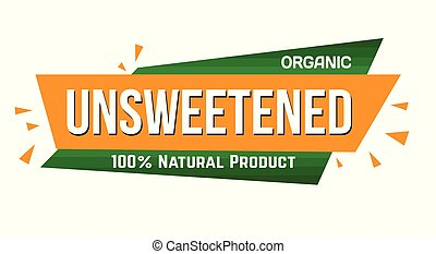 Unsweetened banner design