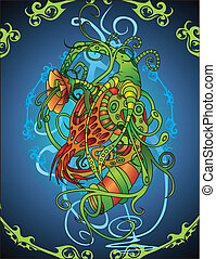 Untamed - A colorful abstract design