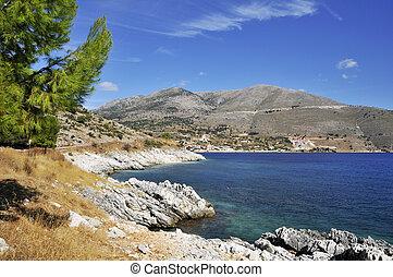Untamed coast from Greek islands