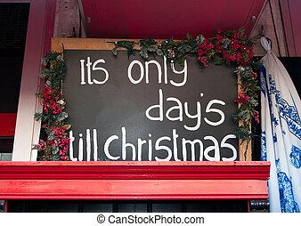 unten, kassa, zählen, weihnachten