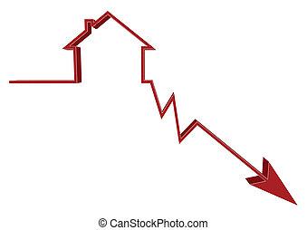 unten, raten, hausfinanzierung