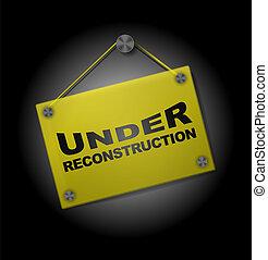 unter, rekonstruktion, -, plexi, tafel
