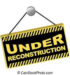 unter, rekonstruktion, zeichen