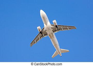 unter, verkehrsflugzeug