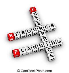unternehmen, ressource, planung, (erp)
