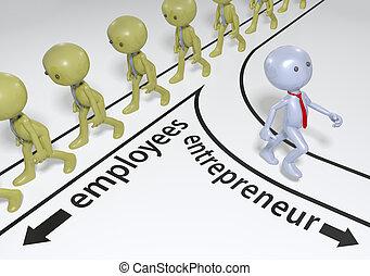 unternehmer, start, plan, erfolg