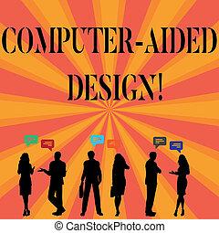 unterstützt, industrie, foto, text, ausstellung, zeichen, edv, entwerfen, begrifflich, gebrauchend, design., elektronisch, devices., schuft