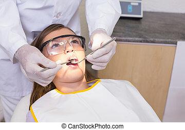 untersuchen, zahnärzte, cha, zahnarzt, patienten, pädiatrisch, z�hne
