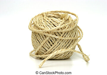 Untidy String - A ball of string wrapped in an untidy...