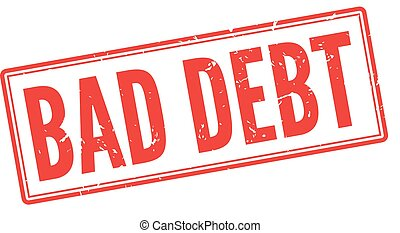 Untitled-120-K - Bad debt red rubber stamp on white. Print,...
