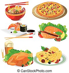 Untitled-2 - illustration food on white background. vector