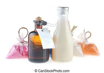 unto delle mani, sale, latte, massaggio