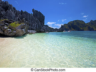 Untouched nature in El Nido, Palawan, Philippines