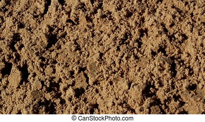 Untouched soil sand in the site - Heaps of soil are found in...