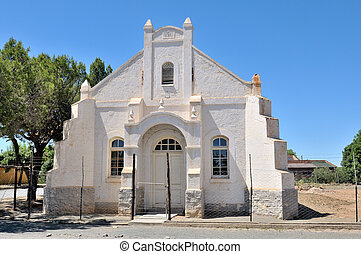 Unused church in Hanover, Northern Cape Province of South Africa. Built in 1911.
