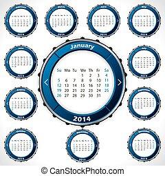 Unusual and rotateable 2014 calendar design
