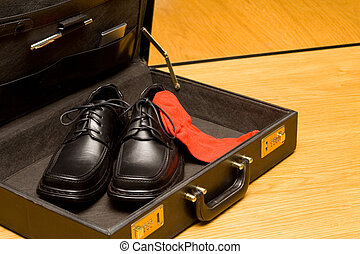 Unusual business outfit and accessories