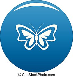 Unusual butterfly icon blue vector