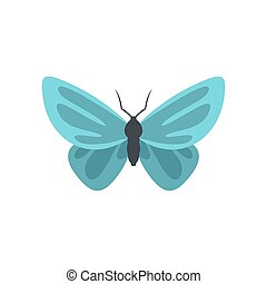 Unusual butterfly icon, flat style.