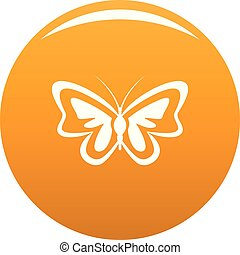 Unusual butterfly icon vector orange