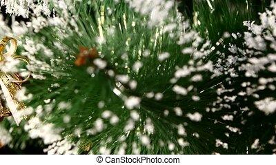 Unusual christmas decoration like shell - a crystalline...