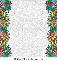 unusual floral ornamental template with place for your text...