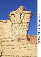 Unusual forms of ancient picturesque hills. Dead Sea, Israel