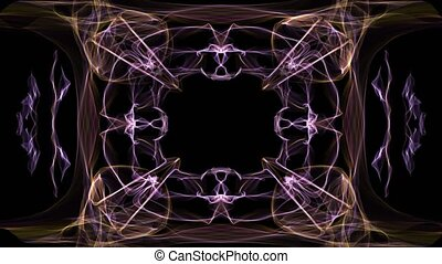 Unusual fractal frame, animated border for own message,...