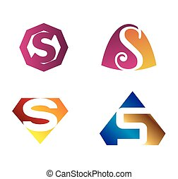 Unusual Letters S Set Vector