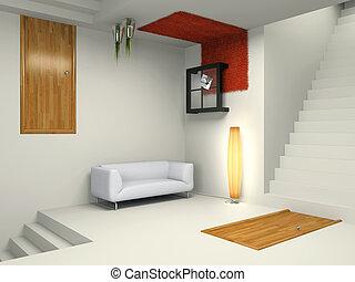 Unusual modern interior