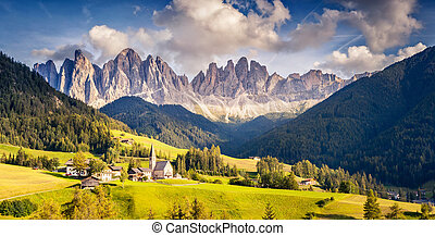 unusual mountain landscape - Countryside view of the St. ...