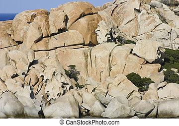 Capo Testa - Unusual rock formations of Capo Testa in the ...