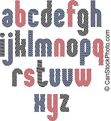 Unusual rounded typescript with diagonal parallel lines,...