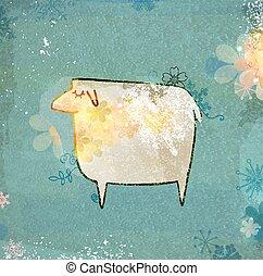 Unusual sheep.