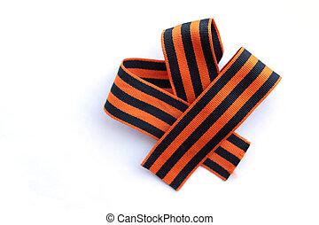 Unusual striped bow