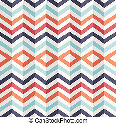 Unusual vintage 3D effect abstract geometric pattern. -...