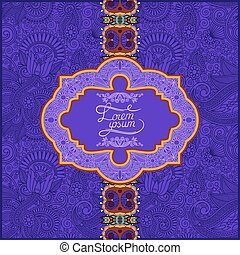 unusual violet colour floral ornamental template
