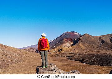 Tongariro - Unusual volcanic landscapes on Tongariro ...