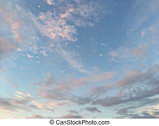 unusually beautiful sky with clouds at sunset
