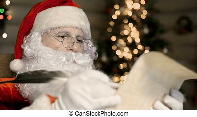 Unwelcomed Wish - Close up of Santa Claus dissatisfied with...