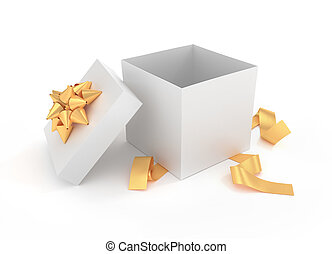 Unwrapped gift box