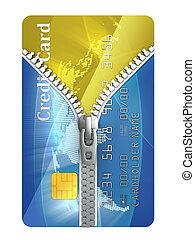 unzipped credit card