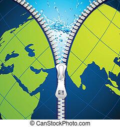 Unzipping Earth