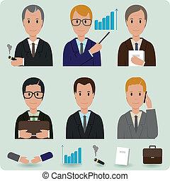 uomini, affari, collezione