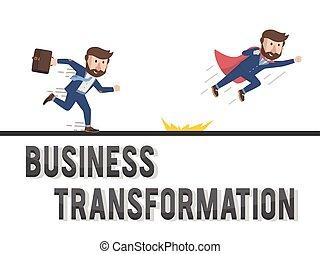 uomini affari, trasformazione