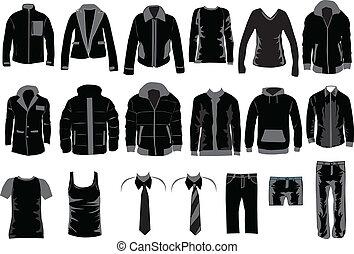uomini, collezione, vestire